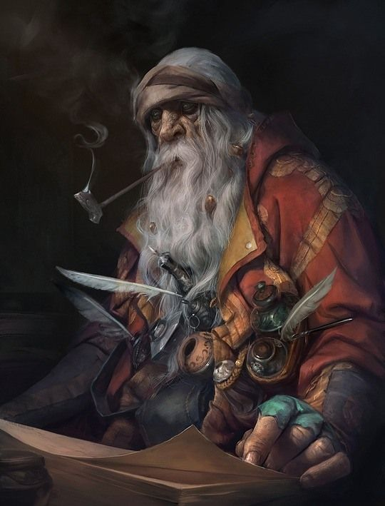 Gnome or dwarf scholar. Must See Concept Art by Stepan Alekseev