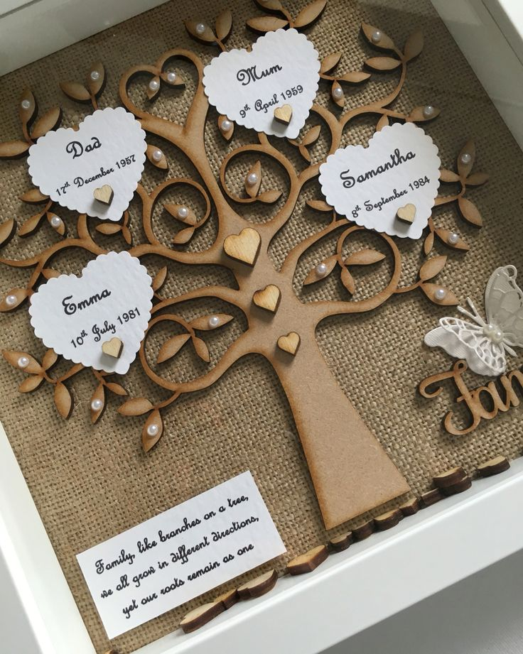 My first handmade family tree frame