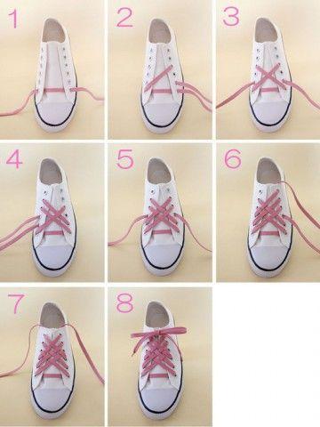 fb528f842ad560 結び方は無限大☆今すぐ真似したいコンバースの靴紐の通し方-カウモ ...