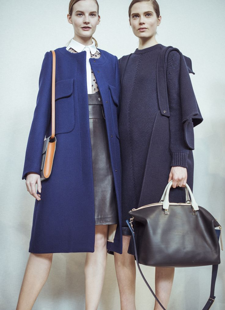 Blue is in, we love the structured #Chloe jacket and Baylee bag ...
