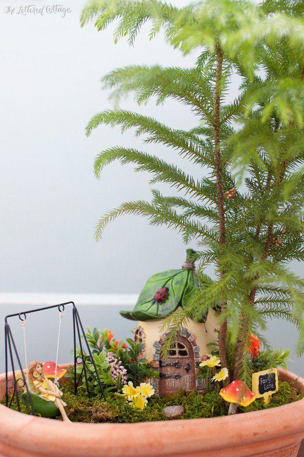 Indoor Fairy Garden Ideas birdbath fairy garden bring indoor add lights get creative Indoor Fairy Garden Found This On A Blog With The Sweetest Poem