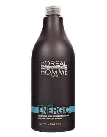 Loreal Homme Energic Şampuan 750 ml - Erkekler İçin Saç Ferahlatıcı Şampuan Erkeklere özel saç ferahlatan ve canlandıran şampuandır. Tüm erkek saç tipleri için kullanılabilir. Zamanla matlaşan ve zayıfşayan saç tellerini güçlendirerek enerji verir. Erkeklerde görülen saç sertleşmesini önleyerek, daha yumuşak saçlar oluşturur. İçeriğindeki menthol özleri saçın ferahlamasını ve saç derisinin nefes almasını sağlar.  www.elizehair.com