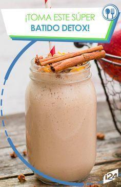Pierde peso y disfruta de un rico sabor #detox #canela #manzana #batido #fit
