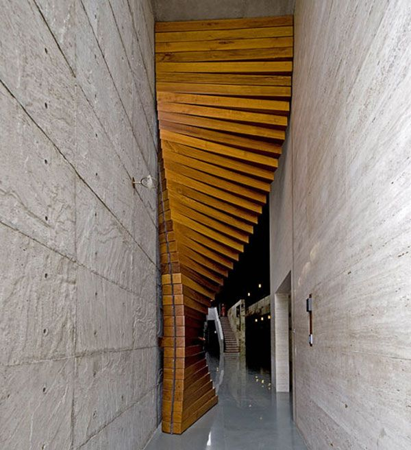 very special door Designed by the architectural firm Matharoo Associates, the Curtain Door is most definitely a door like no other I've seen