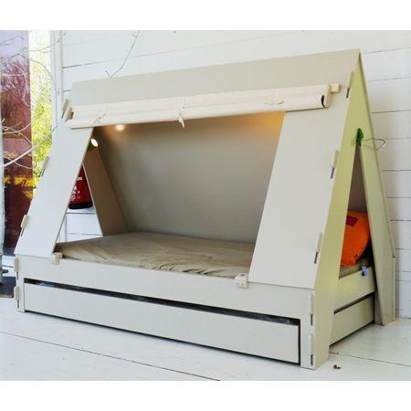 KIDS TENT BEDROOM CABIN BED in Green. Visit AMAMILLO.com