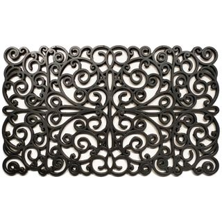 Prestige Natural Rubber Silver Finish Door Mat (18 x 30) from Overstock.com