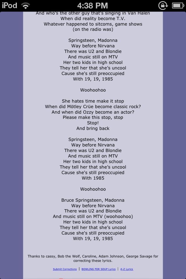 1985 by Bowling for Soup - Songfacts