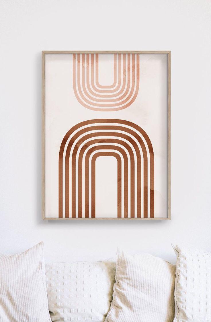 Burnt Orange Print Minimalist Printable Art Gallery Wall Etsy In 2020 Gallery Wall Etsy Art Gallery Wall Gallery Art Printables