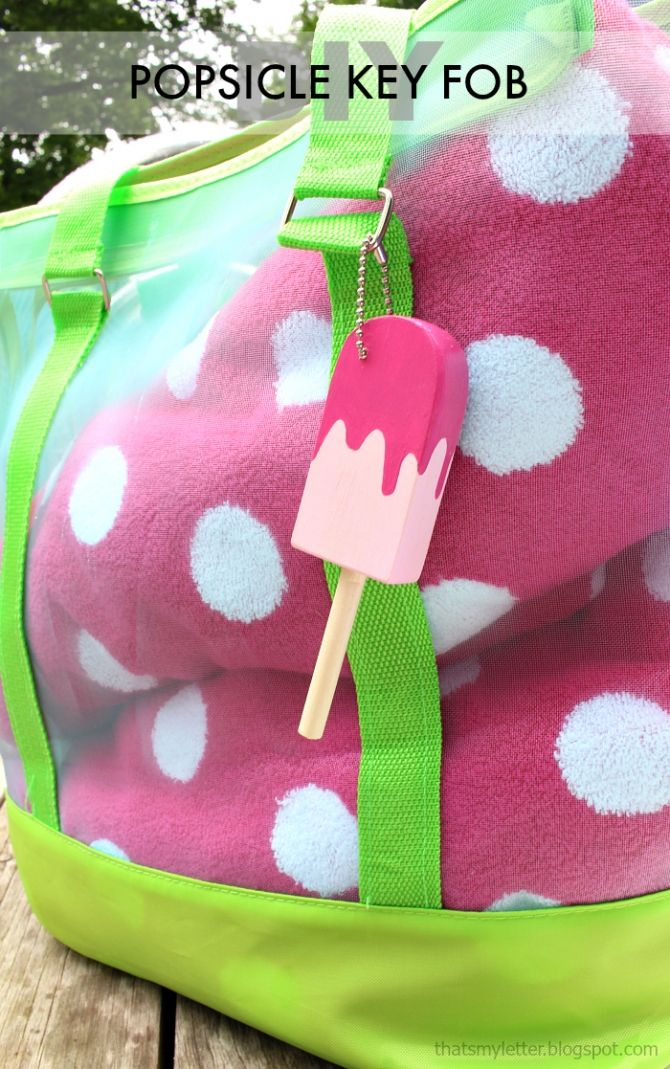 DIY Popsicle Key Fob |via ThatsMyLetter.blogspot.com