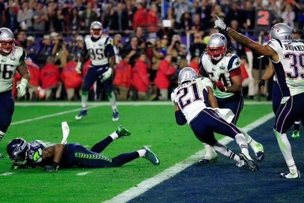 The 2014 Super Bowl came down to  final play, a 1-yard goal-line gift for the Seattle Seahawks. But a moronic decision by the Seahawks offence had the QB Russell Wilson throwing the ball, and he was quickly intercepted by the Patriots.
