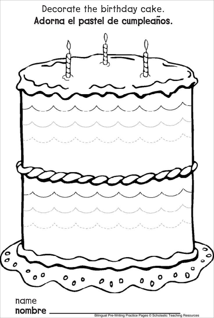 voorbereidend schrijven - taart versieren