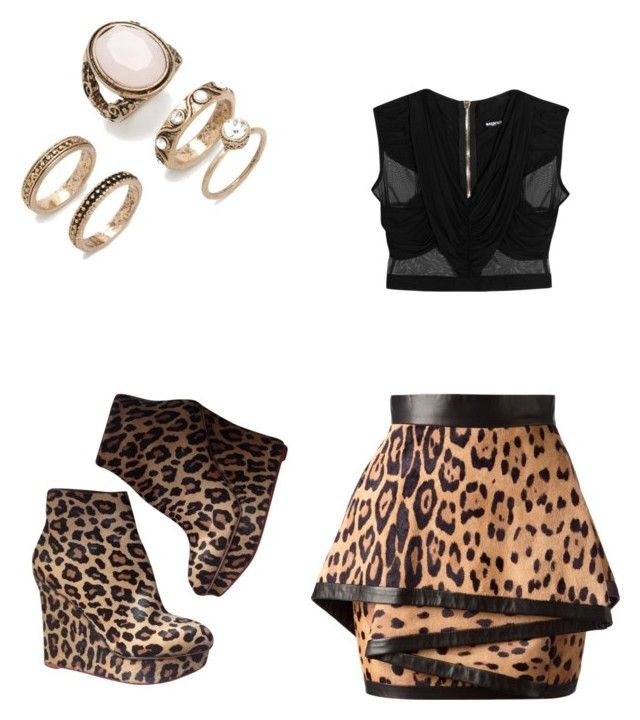 """Chic Cheetah outfit"" by killercupid ❤ liked on Polyvore featuring Charlotte Olympia, Balmain and Forever 21"
