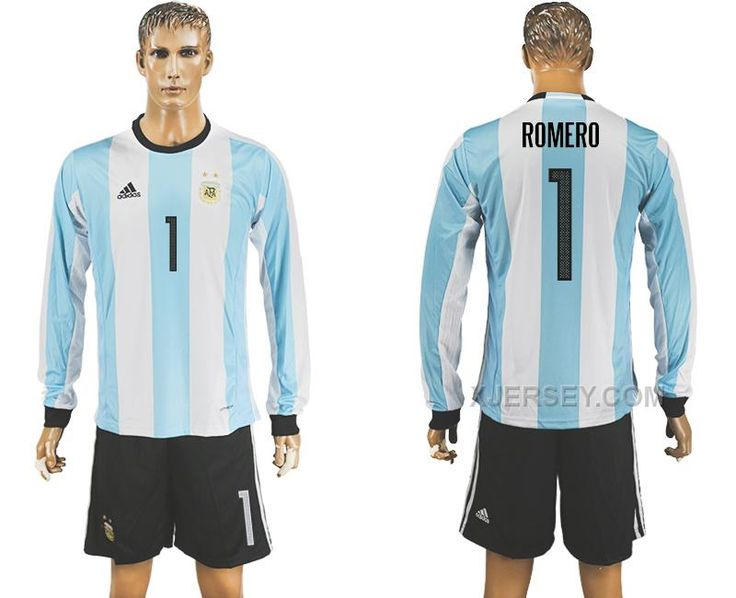 http://www.xjersey.com/argentina-1-romero-home-2016-copa-america-centenario-long-sleeve-soccer-jersey.html ARGENTINA 1 ROMERO HOME 2016 COPA AMERICA CENTENARIO LONG SLEEVE SOCCER JERSEY Only 33.11€ , Free Shipping!