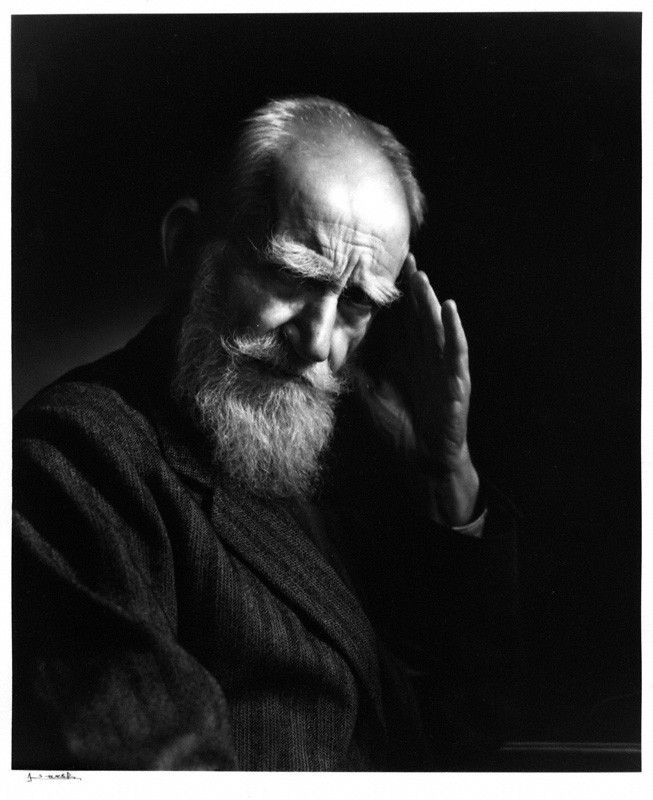 """Life isn't about finding yourself. Life is about creating yourself."" ― GBS George Bernard Shaw by Yousuf Karsh, 1943 - bromide print (NPG, London)"