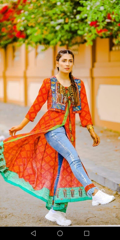 Ayeza Khan New Shoot Simple Dresses Pakistani Dress