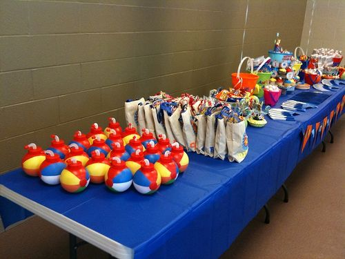 Pool Party Gift Bag Ideas 25 kids loot bag party favor ideas Beach Ball Cups