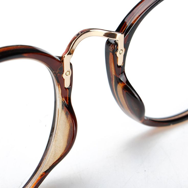 Unisex Vintage Clear Lens Eyeglasses Round Frame Matal Retro Plain Glasses at Banggood