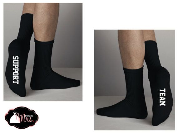 CUSTOM Wedding Socks, Groomsman Gift, Best Man, Father of the Bride, Father of the Groom, Support Team Socks on Etsy, $12.00