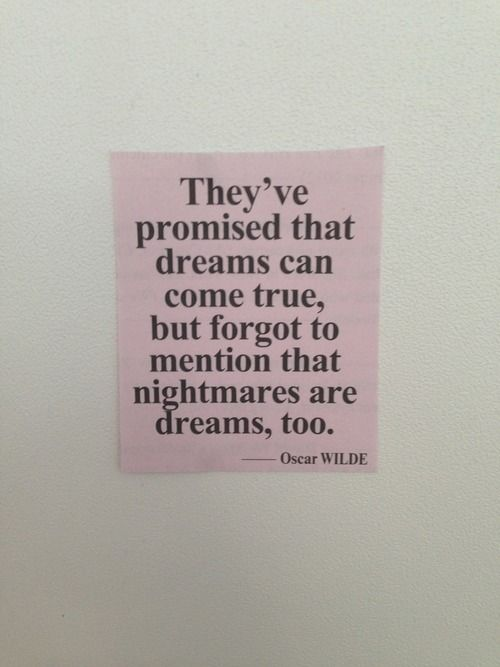 #dreams #nightmares