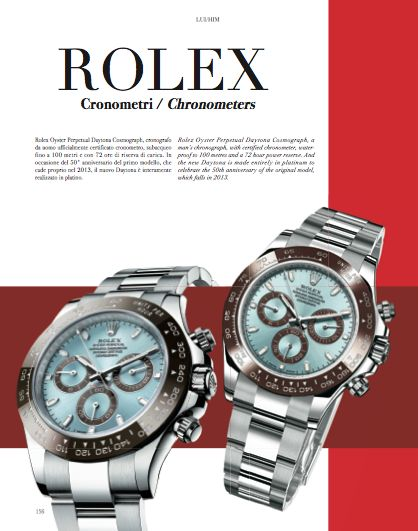 Watches chapter. Focus on Rolex. Rolex Oyster Perpetual Daytona Cosmograph, a man's chronograph, with certified chronometer, waterproof to 100 meters and a 72 hour power reserve. And the new Daytona is made entirely in platinum to celebrate the 50th anniversary of the original model, which falls in 2013. #Rolex #Daytona #watch #men #style #fashion