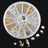 Wish | NEW 3D Nail Art Decoration Ocean Alloy Jewelry Glitter Rhinestones + Wheel Hot Fashion sale