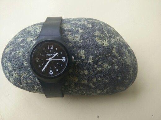Badkamer klok / horloge houder steen