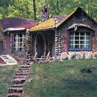 Unique and colorful stone house - dubbed The Gingerbread House - Wisconsin