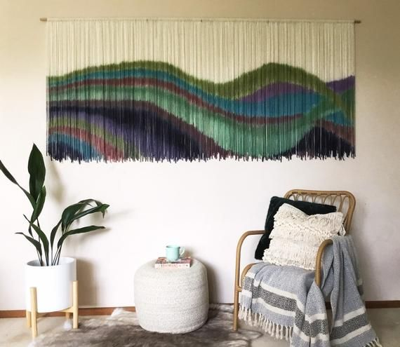 Wanderer Custom Wall Hanging Pick Colors Wall Art Fiber Art Fibre Art Tapestry Macrame Handmade Dyed Wall Decor Woven In 2020 Wall Art Decor Living Room Fiber Art Wall Hanging Handmade