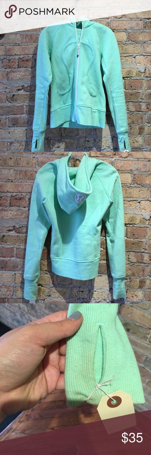Lululemon mint green zip up size 6 Lululemon mint green zip up size 6. (52091). Small stain on sleeve, but hard to notice. Preloved good condition. lululemon athletica Tops Sweatshirts & Hoodies