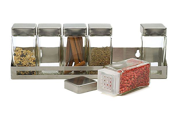Endurance Rectangular Spice Set    love ways to get things up off counters - small small kitchens! gah!