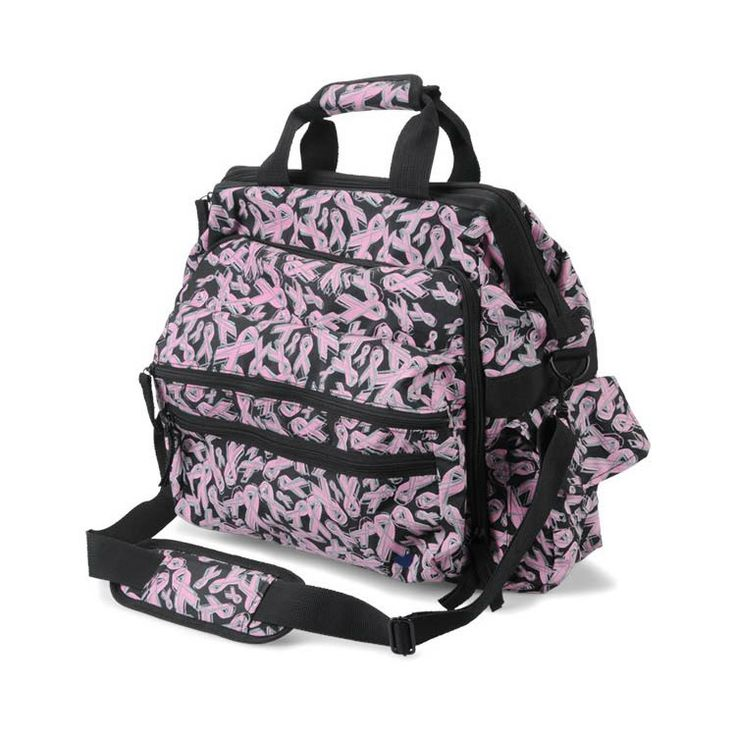 This bag includes Includes document and padded laptop compartment. #pinkribbon