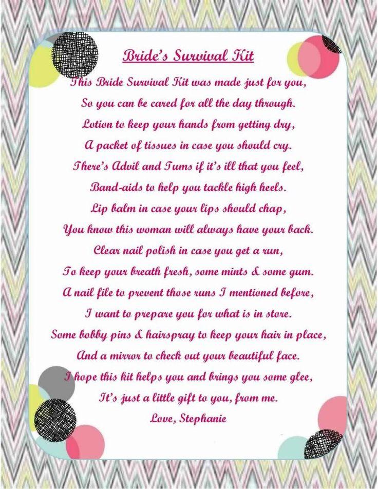 Bridal Survival Kit shop www.CuteBags4Less.com ...
