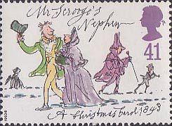Christmas 41p Stamp (1993) Mr Scrooge's Nephew