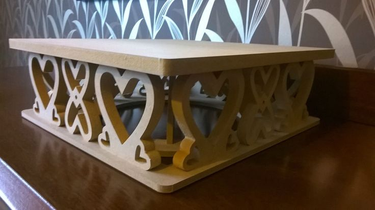 Square cake stand -MDF- craft, decorate - Wedding Party display