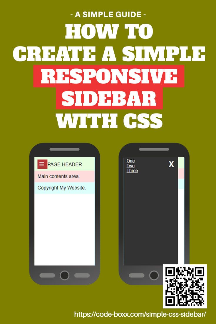 How to Create a Responsive Sidebar with CSS HTML #CSS #HTML