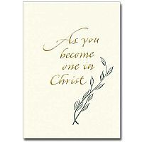 As You Become One In Christ Wedding Congratulations Card