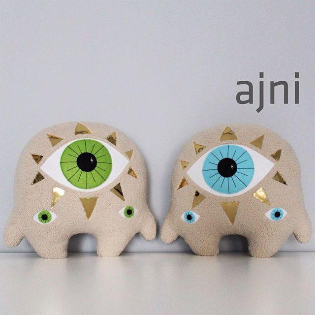 H I !     #fitimonsters #handmade #characterdesign #monster #creature #plushie #softie #softsclupture #ajna #chakra #thirdeye