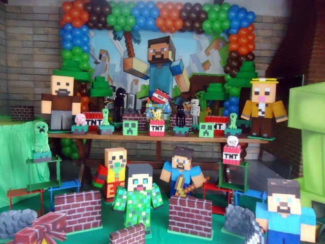 Minecraft Provençal Rústica  Sabor e Festa Maringá  festas  Pinterest  Mi -> Decoracao De Banheiro No Minecraft