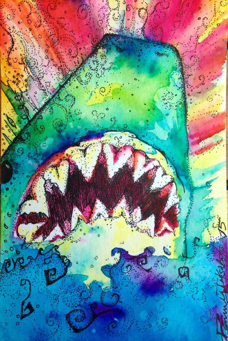 Design muse shark week - New Series Of Four Original Watercolors
