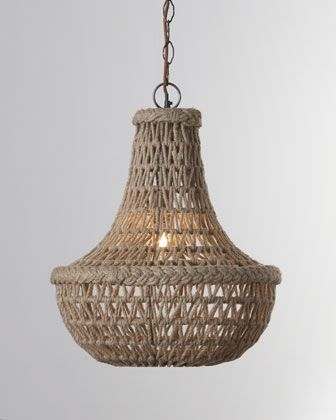 """You lost me at """"Macrame Jute"""" Chandelier by Jamie Young at Horchow....why is everything i love not in Australia!!!!"""