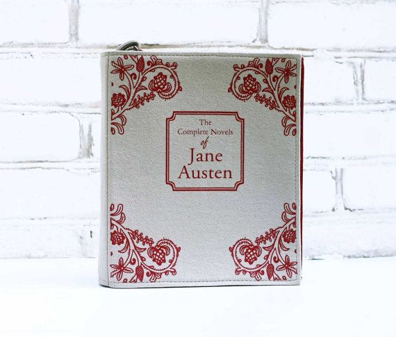 Book Purse Jane Austen Felt Book Bag by krukrustudio on Etsy