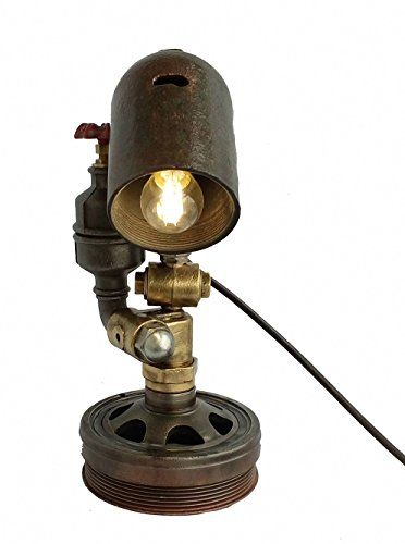 Amazon.com: Edison style lighting Steampunk art pipe lamp Lights made from plumbing pipes Rustic contemporary lighting Rustic living room lamps industrial desk lamp: Handmade