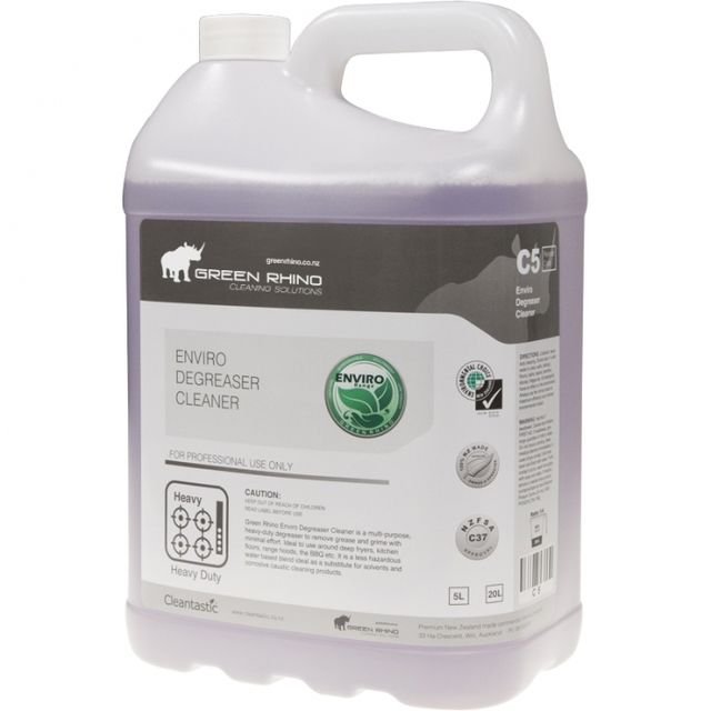 Degreaser Cleaner Enviro - Green Rhino - special until 29th Jan 2017 only $22.45+GST 5Litres