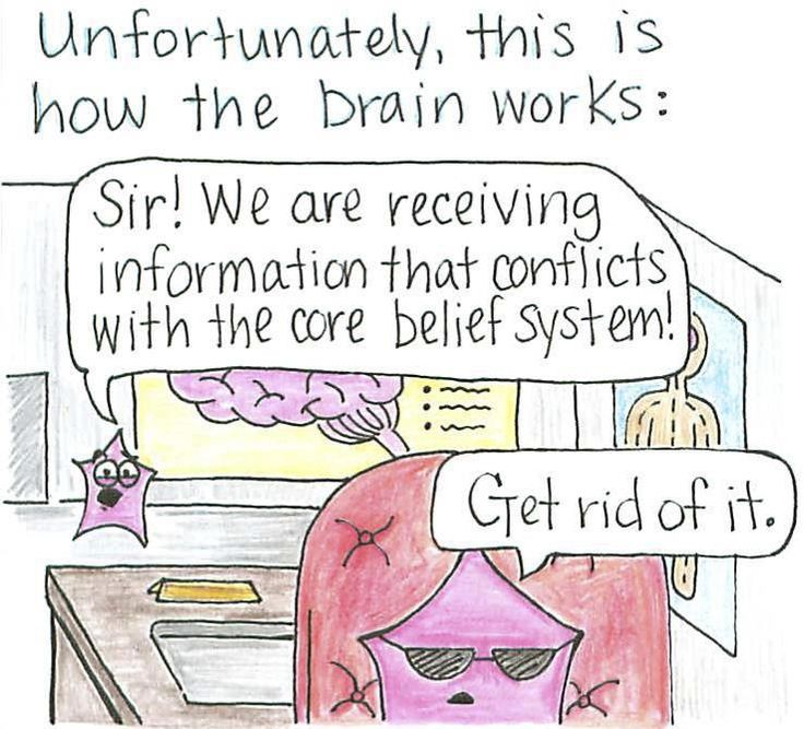 Unfortunately, this is how the brain works. Cognitive dissonance
