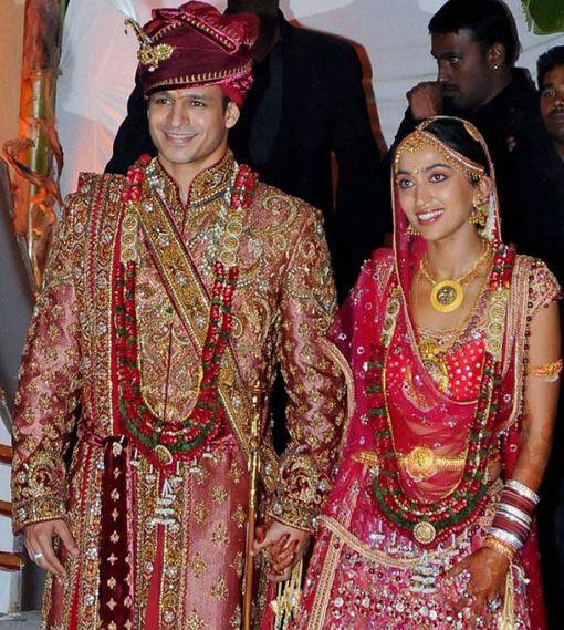 celebrity weddings | Bollywood Celebrity Wedding – Vivek Oberoi and Priyanka Alva ...