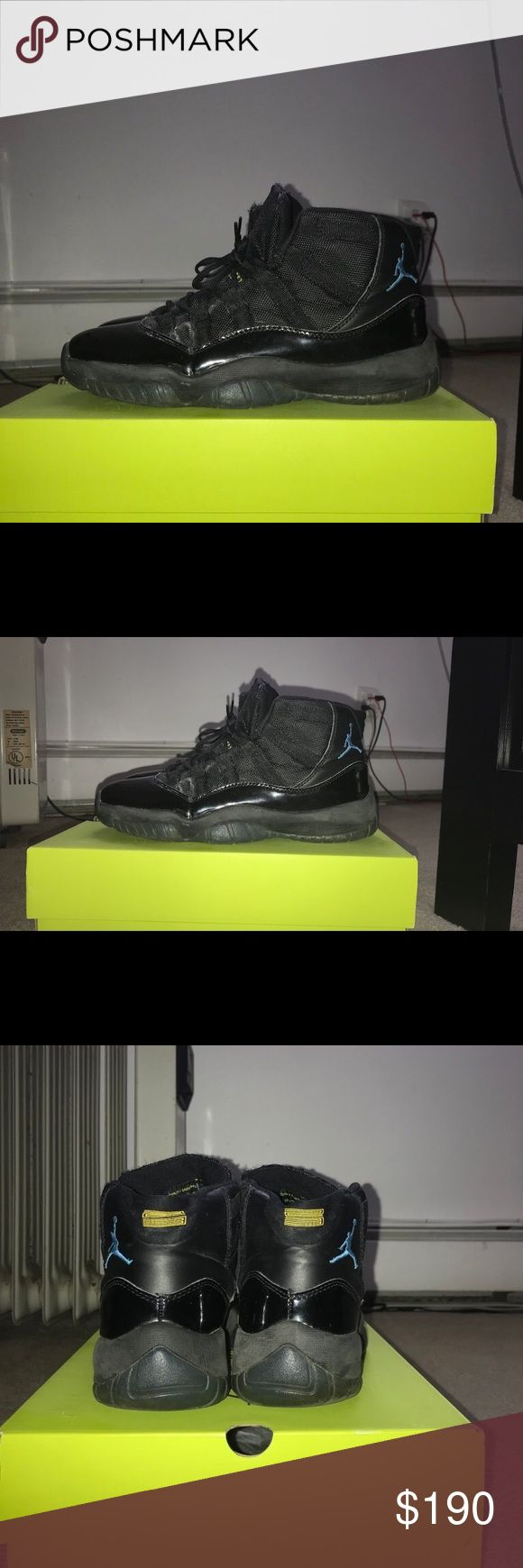 Retro Jordan Gamma 11s -Size 8.5 -Kept clean has few marks but easy to clean right off -Took out in soles because of basketball Jordan Shoes Sneakers