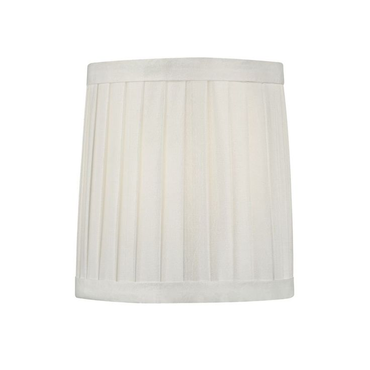 pleated white drum lamp shade with clip on assembly top. Black Bedroom Furniture Sets. Home Design Ideas