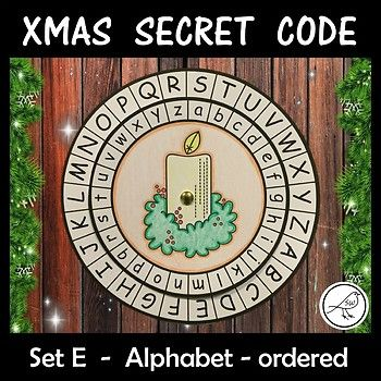 Children love mystery and being a detective! Your students will have so much fun making and using these secret code wheels during the Christmas season. This template has the upper case alphabet on the outer wheel and the lower case alphabet (ordered) on the inner