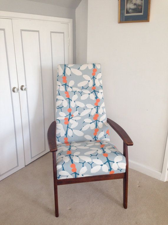 Retro Parker Knoll Chair Upholstered in Romo by RevivingGrey, £265.00