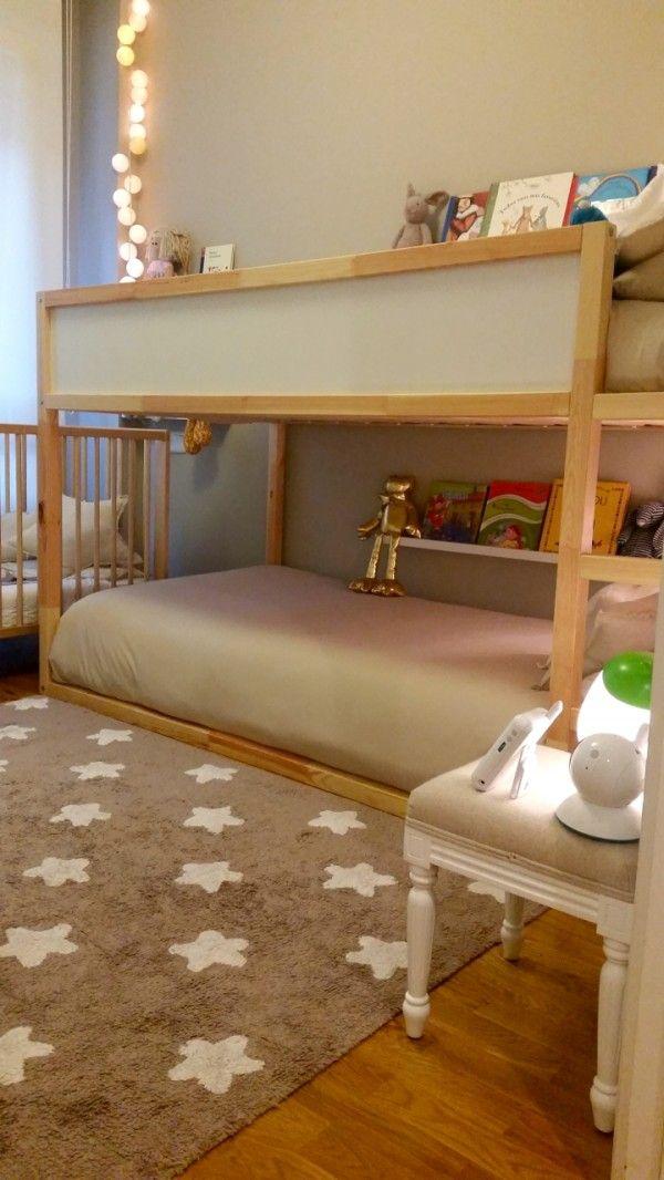 Habitaci n infantil triple estilo n rdico 3 ni os - Habitaciones infantiles estilo nordico ...